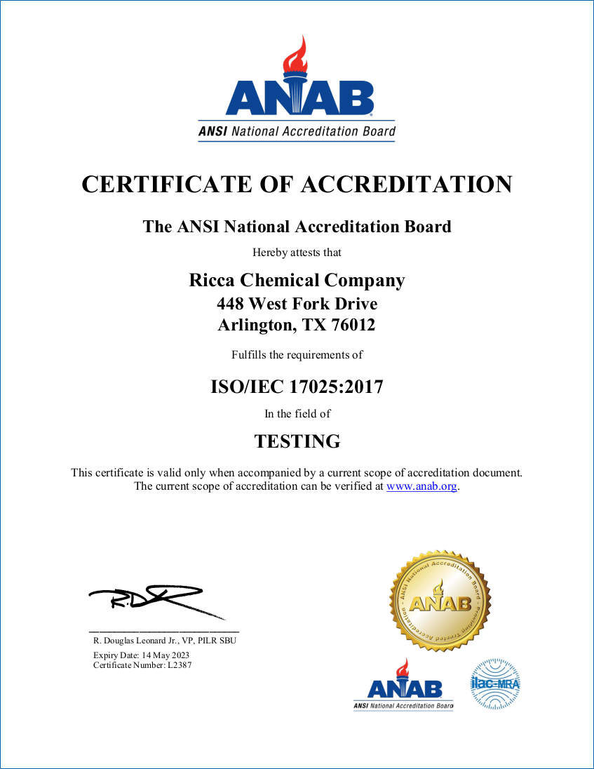17025 Accreditation - Arlington, Texas
